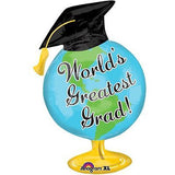 World's Greatest Grad Globe Balloon Bouquet