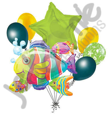 Tropical Fish Cluster Balloon Bouquet