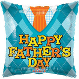 Sophisticated Argyle Dad Happy Father's Day Balloon Bouquet