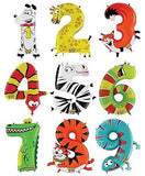 "40"" Zooloons Mighty Bright Animal Image Number Balloon"