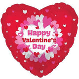 Red & Pink Ring of Hearts Happy Valentines Day Balloon Bouquet