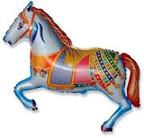 Decorative Carousel Horse Happy Birthday Balloon Bouquet
