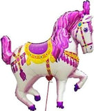 Pink Carousel Horse Happy Birthday Balloon Bouquet
