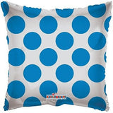 Polka Dot Blue Square Decorator Balloon