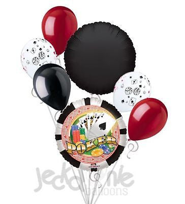 Poker Party Cards & Chips Balloon Bouquet