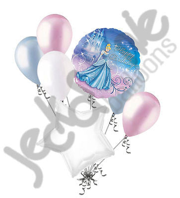 Disney Princess Cinderella Sparkle Happy Birthday Balloon Bouquet