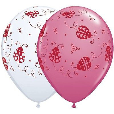 Sweet Ladybugs Around Latex Balloons