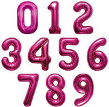 "34"" Magenta Jumbo Number Balloon"