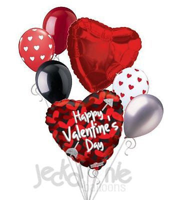 Hearts & Arrow Happy Valentines Day Balloon Bouquet