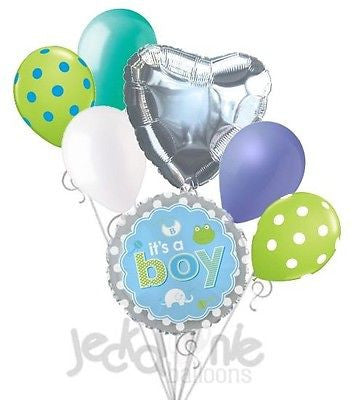 It's a Baby Boy Animal Icons Balloon Bouquet