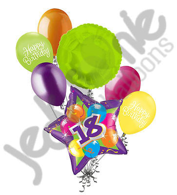 Bright & Bold Sparkling 18th Happy Birthday Balloon Bouquet