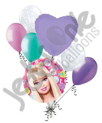 Barbie Patterns Balloon Bouquet