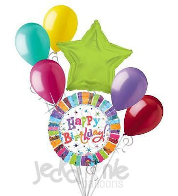 Radiant Happy Birthday Balloon Bouquet