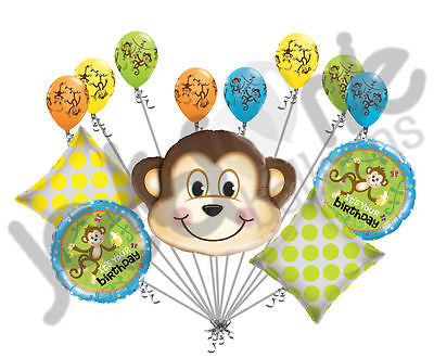 Mischievous Monkey Happy Birthday Balloon Bouquet