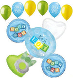 It's a Baby Boy Rattle & Blocks Balloon Bouquet