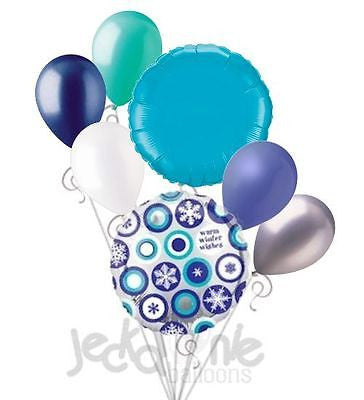 Warm Winter Wishes Snowflakes Balloon Bouquet