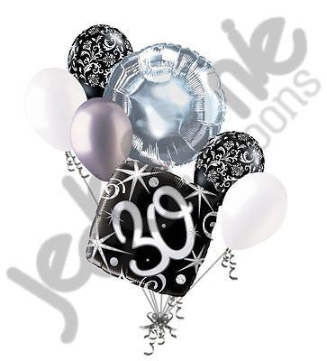 Elegant Happy 30th Birthday Sparkles Balloon Bouquet