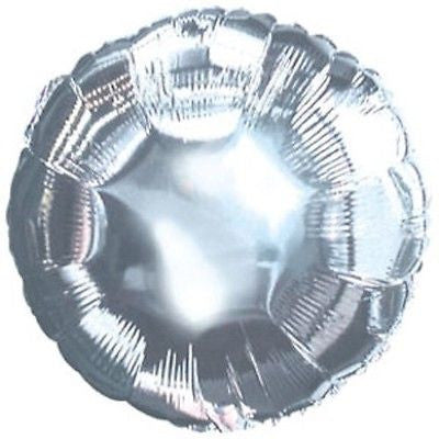 Silver Round Decorator Balloon