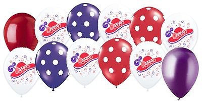Red Hat Society Latex Balloons