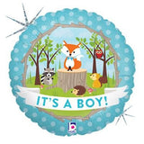 It's a Baby Boy Woodland Animals Balloon Bouquet