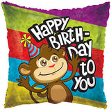 Colorful Mischevious Monkey Happy Birthday Balloon Bouquet