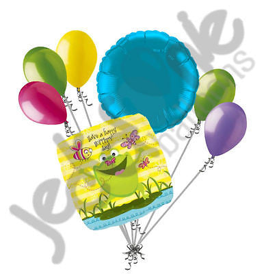 Happity Hoppity Frog Birthday Balloon Bouquet