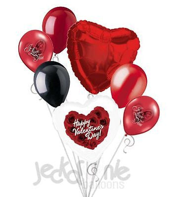 Red Roses Happy Valentines Day Balloon Bouquet