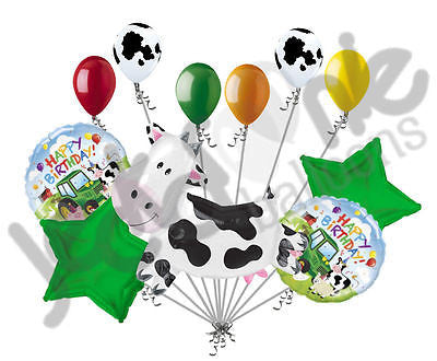 Wandering Cow Happy Birthday Barnyard Balloon Bouquet