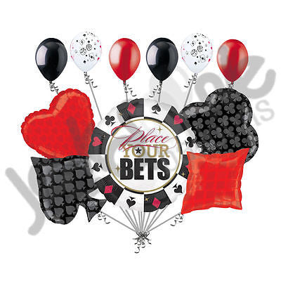 Place Your Bets Poker Cards & Dice Balloon Bouquet