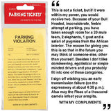 Yellow Parking Ticket Violations Novelty Prank *25 Sheets*
