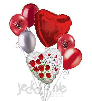 Sparkling Roses I Love You Balloon Bouquet