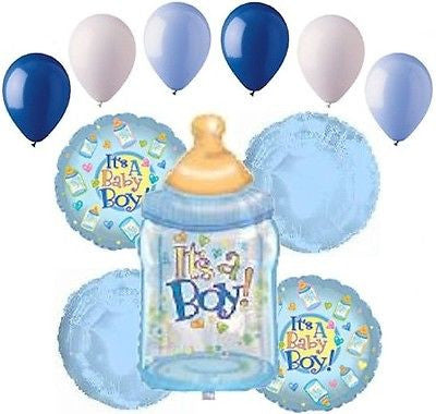 It's a Baby Boy Bottle Balloon Bouquet