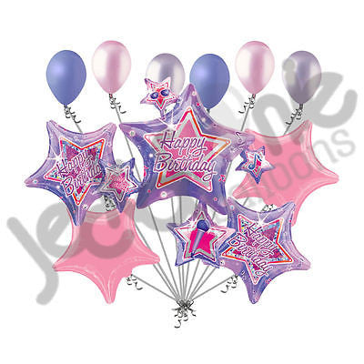 Rock Star Cluster Happy Birthday Balloon Bouquet Jeckaroonie Balloons