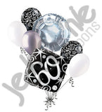 Elegant Happy 60th Birthday Sparkles Balloon Bouquet