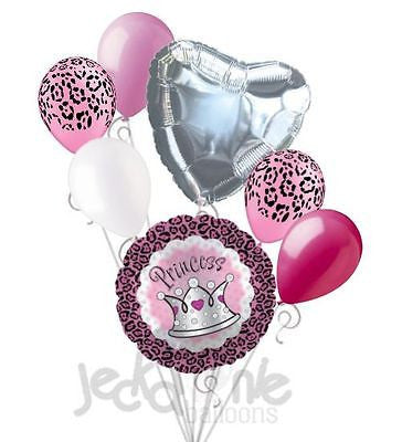 Pink Princess Cheetah Crown Balloon Bouquet