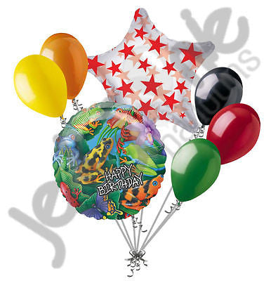Frogs & Lizards Happy Birthday Balloon Bouquet