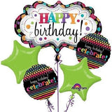 Bright & Colorful Happy Birthday Marquee Balloon Bouquet