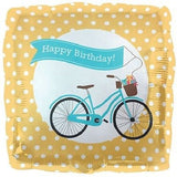 Beach Bike Cruiser Happy Birthday Banner Balloon Bouquet