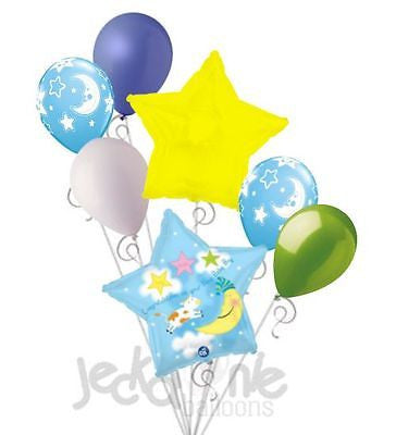 Hey Diddle Cow & Moon Baby Boy Balloon Bouquet