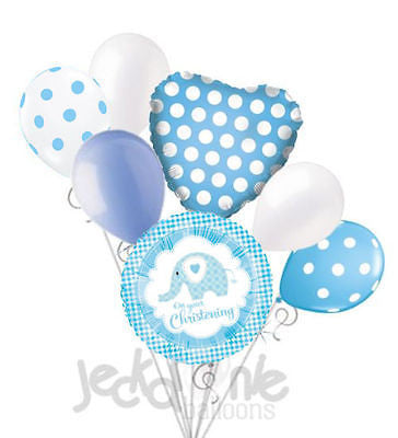 On Your Christening Elephant Blue Boy Balloon Bouquet