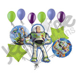 Disney Toy Story Buzz Light Year Happy Birthday Balloon Bouquet
