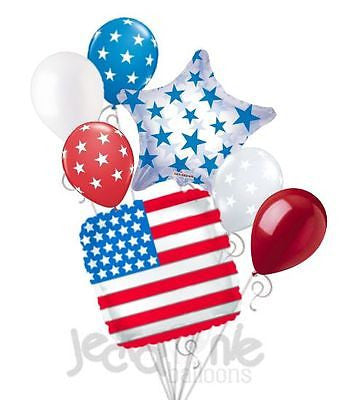Patriotic American Flag 4th of July Balloon Bouquet