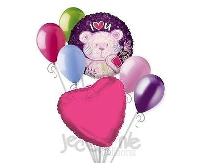 I ♥ U Bear Balloon Bouquet