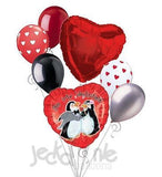 Penguins Heart Be My Valentine Balloon Bouquet