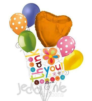 Thank You Colorful Flowers Balloon Bouquet