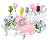 Pig Party Happy Birthday Barnyard Balloon Bouquet