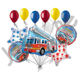 Fire Engine Happy Birthday Balloon Bouquet