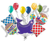 Circus Animal Seal Happy Birthday Balloon Bouquet