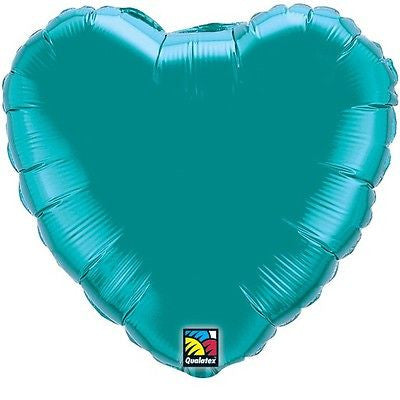 Teal Heart Decorator Balloon