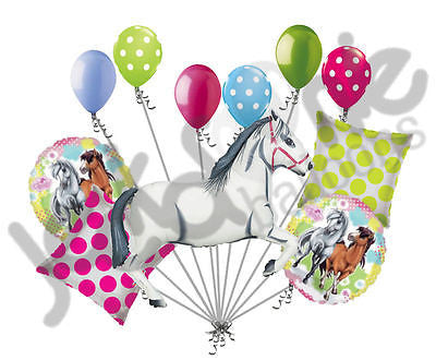 White Charming Horse Balloon Bouquet